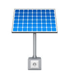 Solar Panel with Electric Socket Royalty Free Stock Images