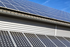 Solar panel electric system Stock Image