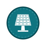 Solar panel energy ecological clean green circle Stock Photography