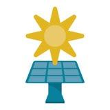 Solar panel energy environment symbol Royalty Free Stock Image