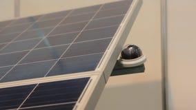 Solar Panel Closeup Tracking stock video