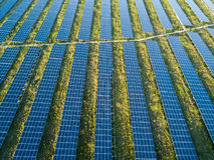 Solar Panel Farm Stock Photos