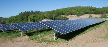 Solar Panel Farm Stock Photography