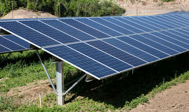 Solar Panel Farm Stock Photo