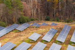 Solar panel farm Stock Image
