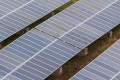 Solar panel farm Stock Images