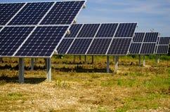 Solar Panel Farm Stock Image
