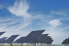 Solar panel field Stock Photography