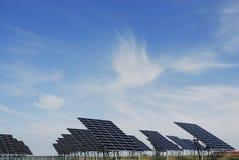Solar panel field Stock Photo