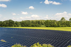 Solar Panel field Stock Images
