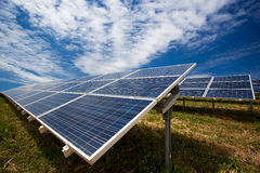 Solar panel field Royalty Free Stock Photography