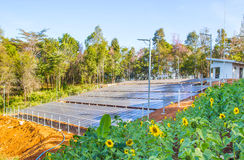 Solar Panel field in Chiang Mai, Thailand Stock Images