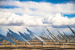 Solar Panel Field in Desert Royalty Free Stock Photo