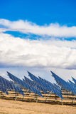 Solar Panel Field in Desert Royalty Free Stock Images
