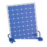 Solar panel figure. Behind a white wall Royalty Free Stock Images