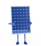 Solar panel figure. Stand on white background Stock Images