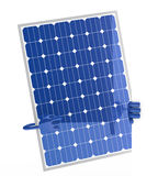 Solar panel figure. Behind a white wall Royalty Free Stock Image