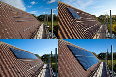 Solar Panel Fitting royalty free stock photography