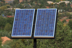 Solar Panel freestanding Stock Images