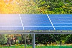 Solar Panel. In the Garden, renewable energy Stock Photos