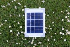 Solar panel in a garden Stock Image