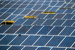Solar panel generating electricity clean energy. Eco power, Photovoltaic, Alternative electricity source, Solar panel generating electricity clean energy stock images