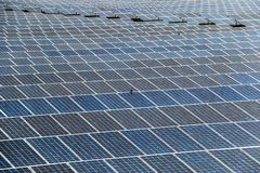 Solar panel generating electricity clean energy royalty free stock image