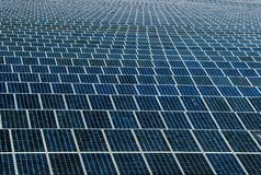 Solar panel generating electricity clean energy royalty free stock photo