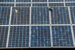 Solar panel generating electricity clean energy. Eco power, Photovoltaic, Alternative electricity source, Solar panel generating electricity clean energy royalty free stock photo