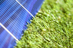 Solar panel in the green Royalty Free Stock Photo