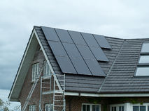 Solar panel for green, environmentally friendly energy Royalty Free Stock Photography