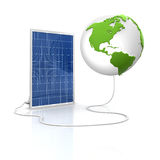 Solar panel for green and renewable energy. Save the world with alternative energy Stock Photos