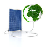 Solar panel for green and renewable energy Stock Images