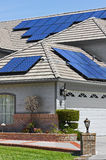Solar Panel Home Stock Photography