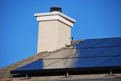 Solar Panel House Royalty Free Stock Photos