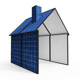 Solar Panel House Showing Renewable Energy Royalty Free Stock Image