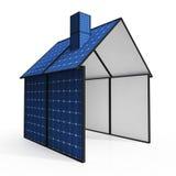 Solar Panel House Showing Renewable Energy Royalty Free Stock Image