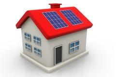 Solar panel on house Stock Photo