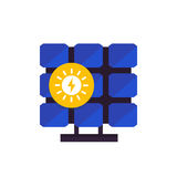 Solar panel, icon in flat style Royalty Free Stock Image