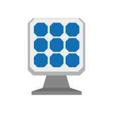 Solar panel icon. Save energy design. Vector graphic Stock Photos