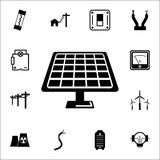 Solar panel icon. Set of energy icons. Premium quality graphic design icons. Signs and symbols collection icons for websites, web. Design, mobile app on white Royalty Free Stock Image
