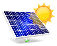 Solar Panel icon. Stock Photo