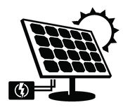 Solar panel icon Stock Photography