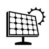 Solar panel icon Stock Image