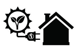Solar panel icon Royalty Free Stock Images