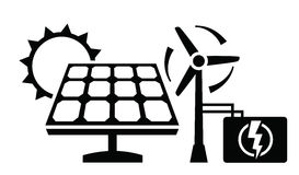 Solar panel icon Royalty Free Stock Image