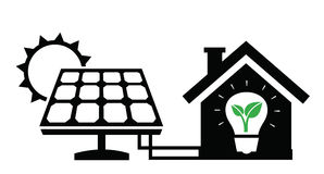 Solar panel icon. Vector black solar panel icon on white background vector illustration