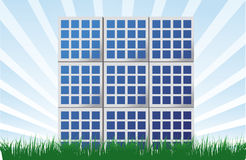 Solar panel illustration background Royalty Free Stock Photos