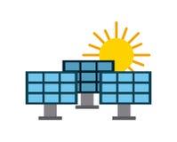 Solar panel illustration. Icon vector design graphic Royalty Free Stock Photo