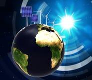 Solar Panel Indicates Alternative Energy And Globalise Royalty Free Stock Photo